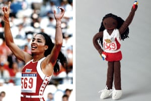 Knitted Olympians: Florence Griffith-Joyner