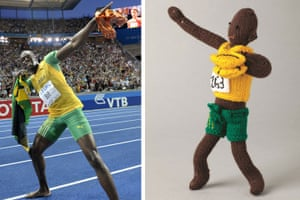 Knitted Olympians: Usain Bolt