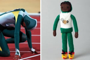Knitted Olympians: Cathy Freeman