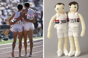Knitted Olympians: Sebastian Coe and Steve Ovett