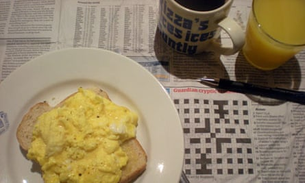 Crosswords and scrambled egg