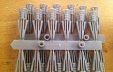 A strip of plasterboard plugs