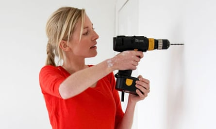 Woman drilling