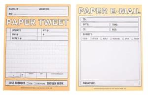 Gadgets: Paper tweet notebook