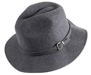 xmas-jewellery-over20: Grey fedora with buckle