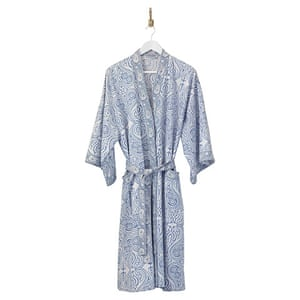 xmas-jewellery-over20: blue block print dressing gown