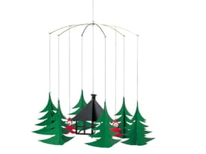 xmas decorations: Pixies in the Christmas forest mobile