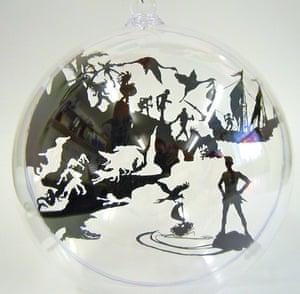 xmas decorations: Neverland glass bauble