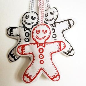 xmas decorations: Gingerbread man plush decoration