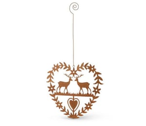 xmas decorations: Heart and reindeers decoration