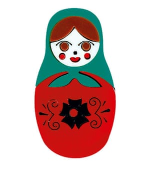 Stocking fillers: Russian-doll brooch