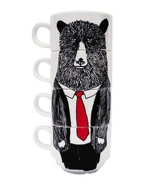 Wildcard Christmas gifts: Mr Bear stackable mugs