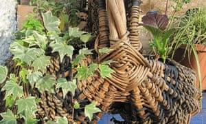 A planted picnic basket