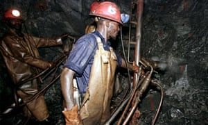 Gold miners in South Africa