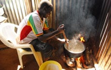 Cooking at the camp
