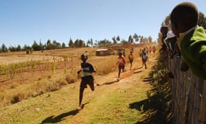 Running with the Kenyans, school race