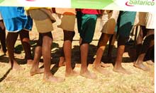 Running with the Kenyans, barefoot