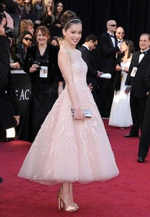 Oscars: Hailee Steinfeld arrives at the Oscars