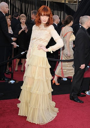 Oscars: Florence Welch arrives at the Oscars