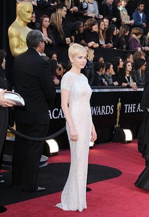 Oscars: Michelle Williams arrives at the Oscars
