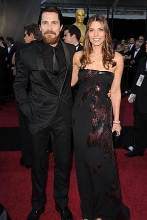 Oscars: Christian Bale and wife Sibi arrive at the Oscars