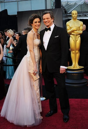 Oscars: Colin Firth and wife Livia Giuggioli at the Oscars
