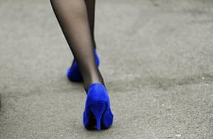 Cheltenham ladies day: A woman at Cheltenham Festival