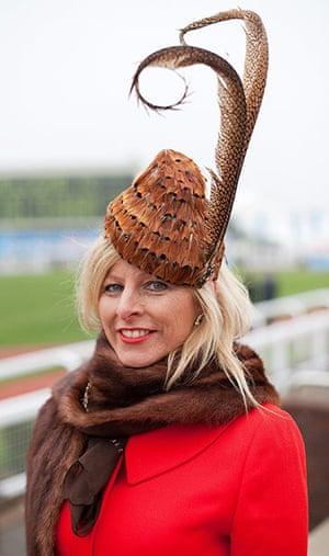 Cheltenham ladies day: A racegoer at Cheltenham Ladies Day