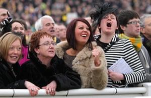Cheltenham ladies day: Racegoers at Cheltenham Festival