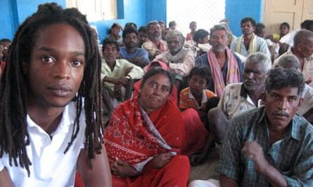 Seyi Rhodes in a leprosy colony