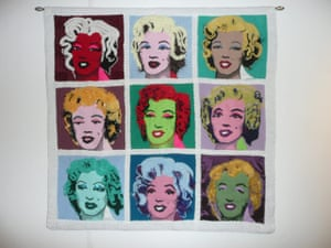 Knitted art: Warhol's Marilyn Monroe