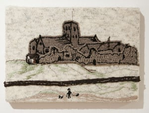 Knitted art: Lowry's St Paul's Church