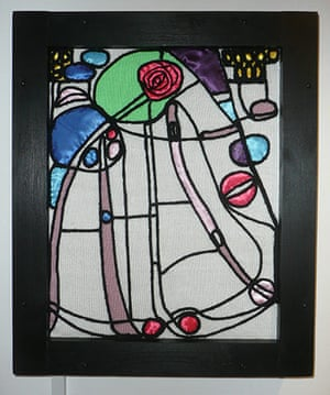 Knitted art: Rennie Mackintosh's stained glass window