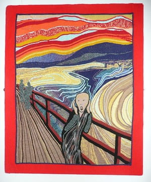 Knitted art: Munch's The Scream