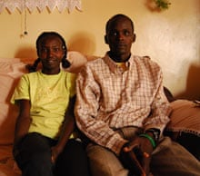 Another shot of Mary Keitany and her husband at home.