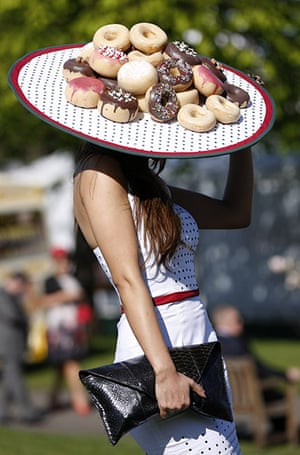 Ladies Day at Aintree: A racegoer arrives at Aintree Ladies Day