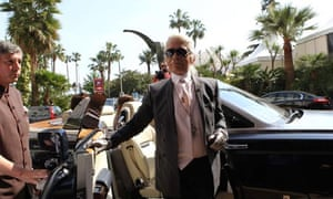 Karl Lagerfeld arrives in Cannes