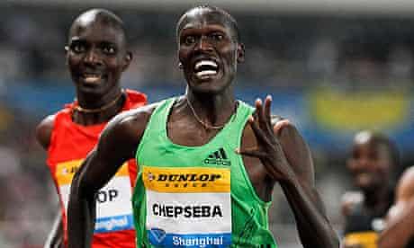 Nixon Chepseba beats Olympic champion Asbel Kiprop in the 1500m in Shanghai