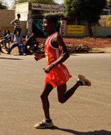 Kenyans: Ethiopian runner