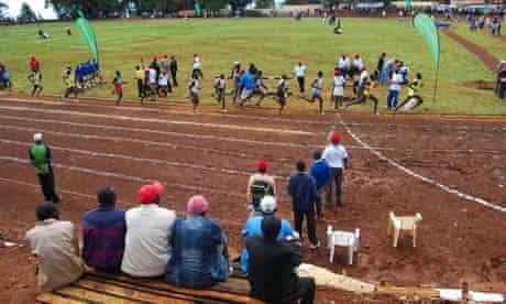A 1500m heat at the Kameriny stadium, Kenya