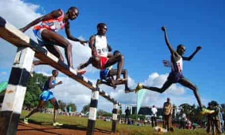 3000m steeplecase at the Kameriny stadium, Kenya