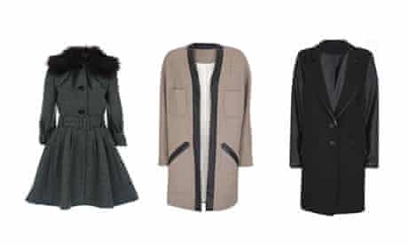 Coats at Topshop made from Izzy Lane wool