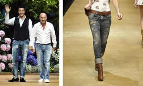 Dolce & Gabbana jeans on the catwalk