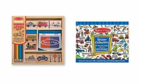 Melissa and Doug stamps and stickers