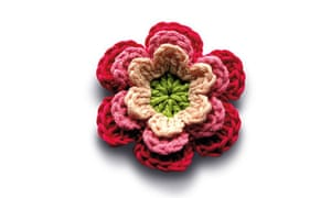 Flower power ... fill your house with brightly coloured bouquets of crocheted blooms.
