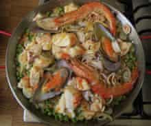 Sri Owen's paella.