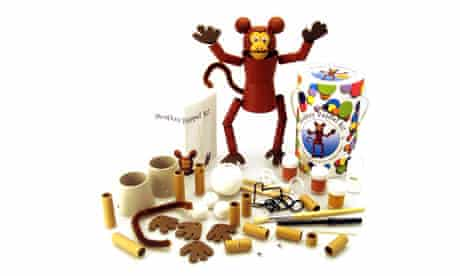 Monkey puppet making kit from Crafty Kids