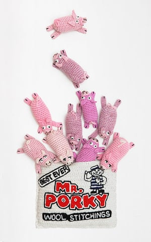 Crocheted delicacies: Mr Porky's wool stitchings