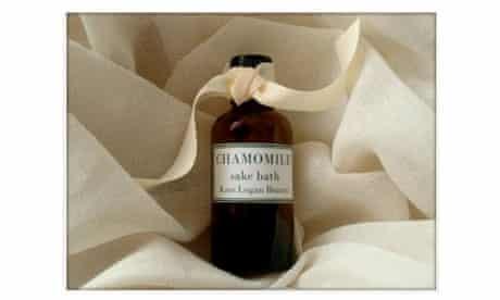 Chamomile sake bath by Kate Logan Beauty