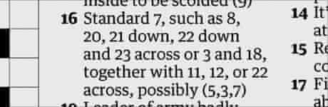 Friday's Guardian crossword clue